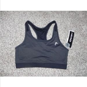 Head Sports Bra Size Small Black Heather NWT